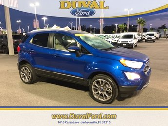 2018 Lightning Blue Metallic Ford EcoSport Titanium 4X4 Automatic SUV 4 Door