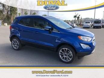 2018 Lightning Blue Metallic Ford EcoSport Titanium SUV 4X4 I4 Engine Automatic