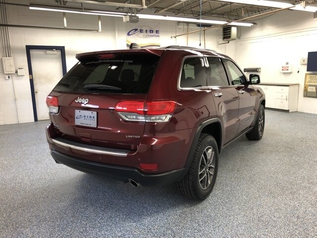 2019 Velvet Red Pearlcoat Jeep Grand Cherokee Limited 3.6L V6 24V VVT Engine 4X4 4 Door