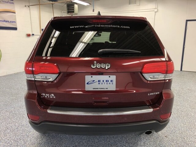 2019 Velvet Red Pearlcoat Jeep Grand Cherokee Limited Automatic 3.6L V6 24V VVT Engine 4X4 4 Door SUV