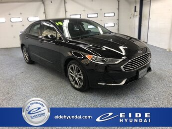 2019 Agate Black Ford Fusion SEL Automatic Sedan 1.5L EcoBoost Engine FWD 4 Door