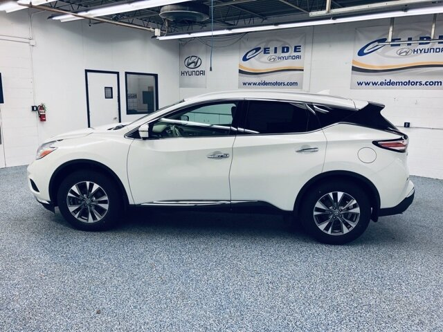 2017 Pearl White Nissan Murano SL AWD 4 Door 3.5L V6 Engine SUV