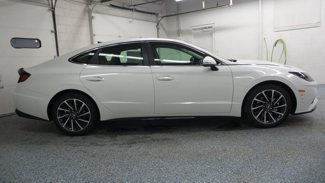 2020 Quartz White Hyundai Sonata Limited Automatic 1.6L I4 Engine FWD Sedan