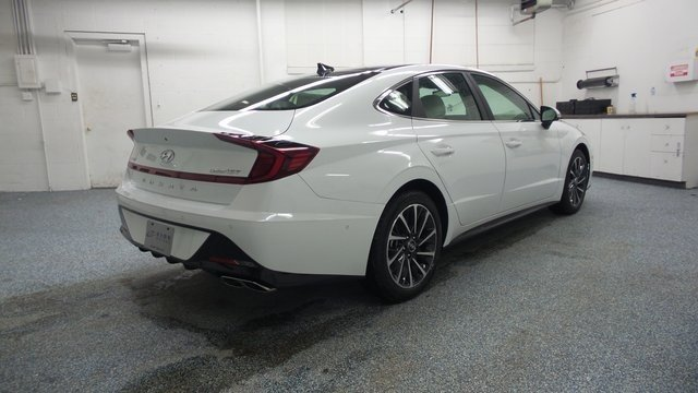 2020 Quartz White Hyundai Sonata Limited Sedan 1.6L I4 Engine Automatic