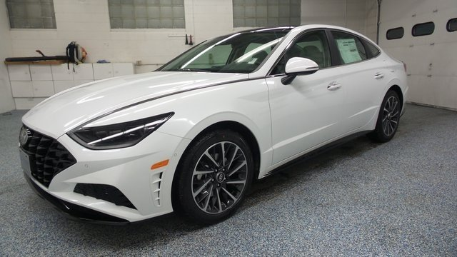 2020 Quartz White Hyundai Sonata Limited 1.6L I4 Engine FWD 4 Door
