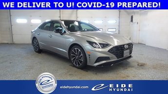 2020 Shimmering Silver Pearl Hyundai Sonata SEL Plus 1.6L I4 Engine Automatic FWD 4 Door Sedan