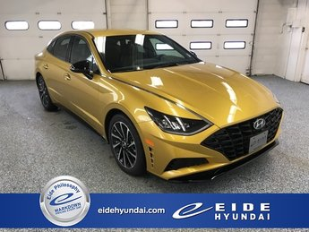2020 Glowing Yellow Hyundai Sonata SEL Plus I4 Engine 4 Door FWD Sedan