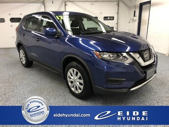 2017 Caspian Blue Nissan Rogue S 2.5L I4 DOHC 16V Engine SUV 4 Door Automatic (CVT) AWD