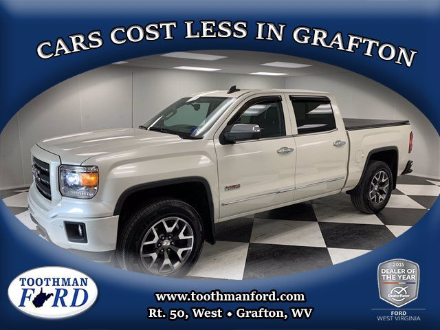 2015 White GMC Sierra 1500 SLT Automatic 4X4 Gas V8 5.3L/325 Engine