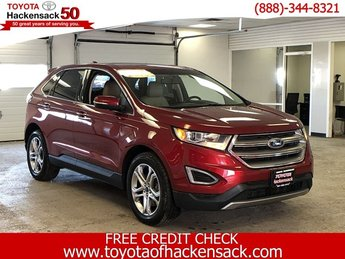 2016 Ruby Red Metallic Tinted Clearcoat Ford Edge Titanium Automatic 4 Door Intercooled Turbo Premium Unleaded I-4 2.0 L/122 Engine SUV