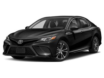 2019 Midnight Black Metallic Toyota Camry SE Auto Automatic Sedan 4 Door Regular Unleaded I-4 2.5 L/152 Engine FWD