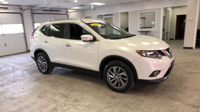 2015 Pearl White Nissan Rogue SL Regular Unleaded I-4 2.5 L/152 Engine AWD SUV 4 Door Automatic (CVT)