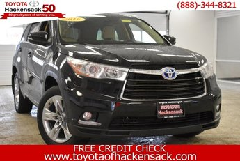 2016 Midnight Black Metallic Toyota Highlander Hybrid Limited 4 Door AWD SUV Automatic (CVT)