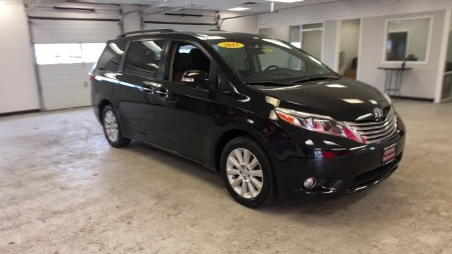 2015 Attitude Black Toyota Sienna Ltd AWD Crossover 4 Door