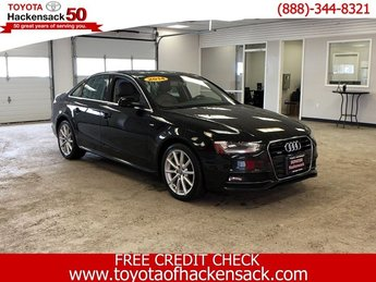 2014 BLACK Audi A4 Premium Plus 4 Door Automatic Intercooled Turbo Premium Unleaded I-4 2.0 L/121 Engine AWD Sedan