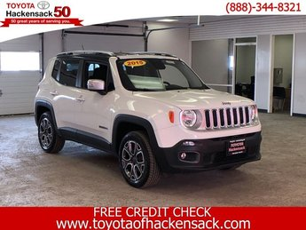 2015 Alpine White Jeep Renegade Limited Automatic Regular Unleaded I-4 2.4 L/144 Engine 4 Door SUV