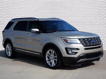 2017 White Gold Metallic Ford Explorer Limited Automatic 3.5L V6 Ti-VCT Engine FWD