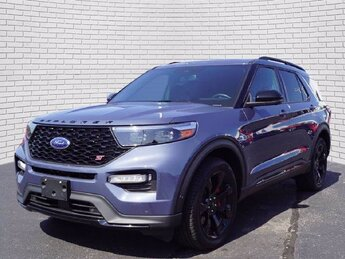 2021 Infinite Blue Metallic Tinted Clearcoat Ford Explorer ST Automatic V6 Engine SUV