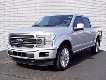 2019 Ingot Silver Metallic Ford F-150 Limited 4 Door Truck EcoBoost 3.5L V6 GTDi DOHC 24V Twin Turbocharged Engine