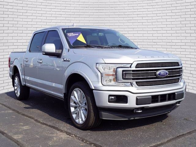 2019 Ingot Silver Metallic Ford F-150 Limited Automatic 4X4 Truck EcoBoost 3.5L V6 GTDi DOHC 24V Twin Turbocharged Engine