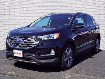 2019 Agate Black Metallic Ford Edge SEL 4 Door SUV FWD Automatic EcoBoost 2.0L I4 GTDi DOHC Turbocharged VCT Engine
