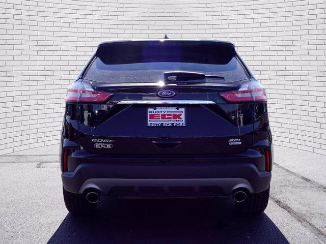2019 Agate Black Metallic Ford Edge SEL FWD SUV 4 Door
