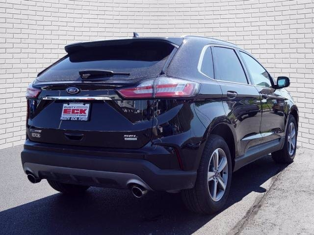 2019 Agate Black Metallic Ford Edge SEL SUV FWD EcoBoost 2.0L I4 GTDi DOHC Turbocharged VCT Engine Automatic 4 Door
