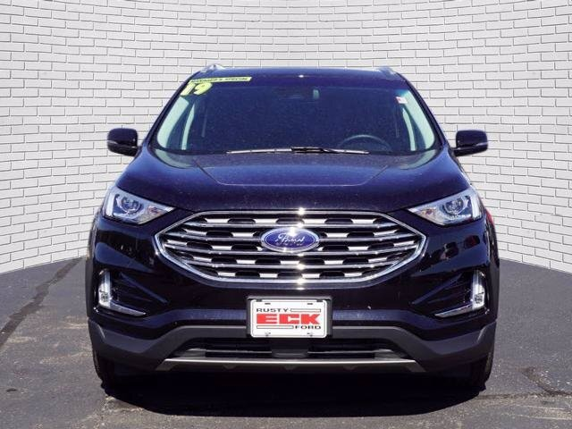 2019 Agate Black Metallic Ford Edge SEL 4 Door EcoBoost 2.0L I4 GTDi DOHC Turbocharged VCT Engine Automatic SUV FWD