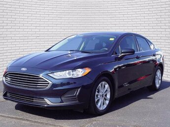 2020 Alto Blue Metallic Tinted Clearcoat Ford Fusion SE Sedan FWD 4 Door Automatic