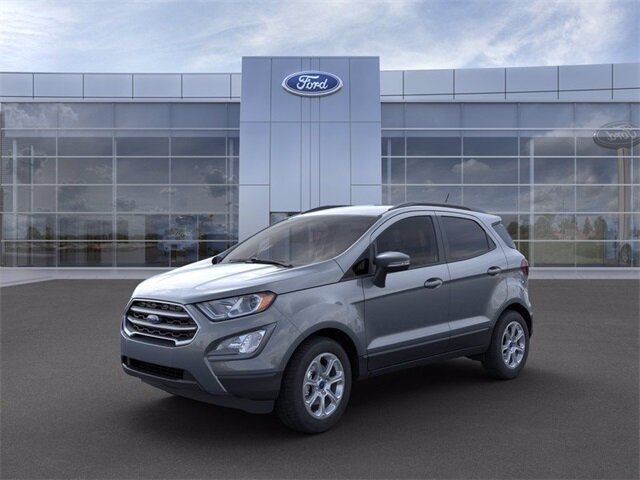 2021 Smoke Metallic Ford EcoSport SE Automatic 4 Door EcoBoost 1.0L I3 GTDi DOHC Turbocharged VCT Engine