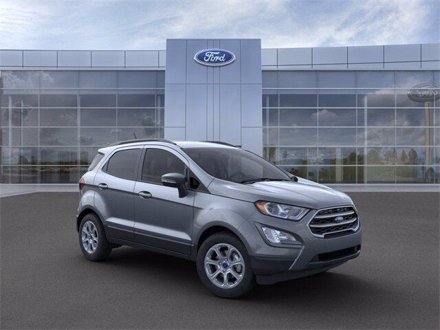 2021 Smoke Metallic Ford EcoSport SE 4 Door Automatic EcoBoost 1.0L I3 GTDi DOHC Turbocharged VCT Engine SUV FWD