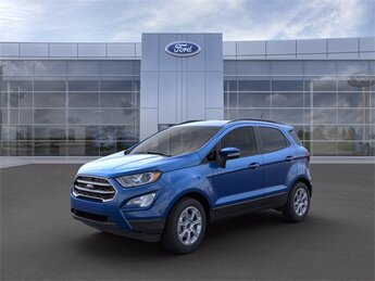 2021 Lightning Blue Metallic Ford EcoSport SE SUV 2.0L I4 Ti-VCT GDI Engine 4 Door Automatic