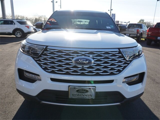 2020 Star White Metallic Tri-Coat Ford Explorer Platinum V6 Engine SUV Automatic 4 Door 4X4