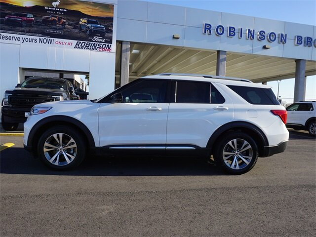 2020 Star White Metallic Tri-Coat Ford Explorer Platinum Automatic V6 Engine SUV