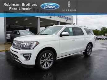 2021 Star White Metallic Tri-Coat Ford Expedition Max Platinum SUV RWD Automatic 4 Door EcoBoost 3.5L V6 GTDi DOHC 24V Twin Turbocharged Engine