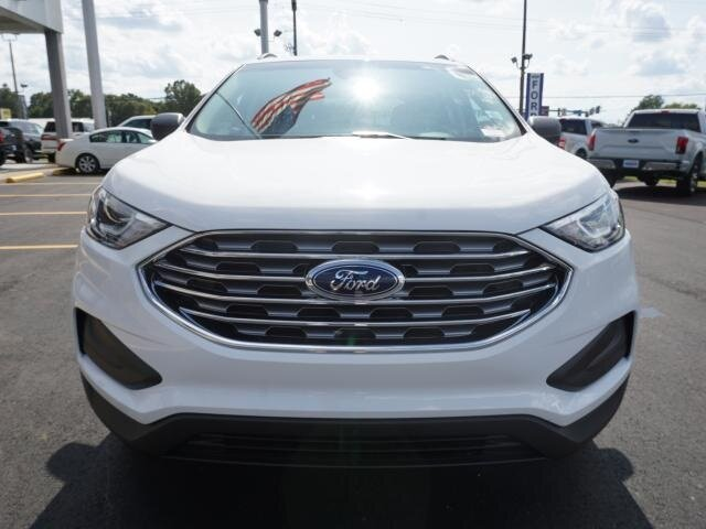 2020 Oxford White Ford Edge SE FWD EcoBoost 2.0L I4 GTDi DOHC Turbocharged VCT Engine Automatic SUV 4 Door