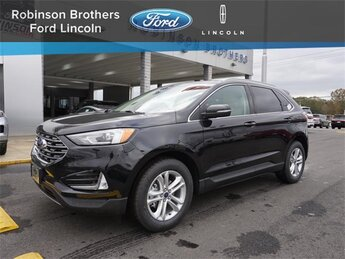 2020 Agate Black Ford Edge SEL Automatic FWD 4 Door EcoBoost 2.0L I4 GTDi DOHC Turbocharged VCT Engine