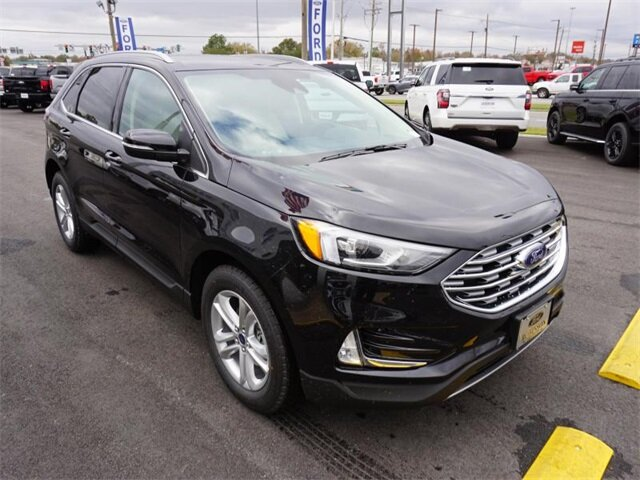 2020 Agate Black Ford Edge SEL 4 Door FWD EcoBoost 2.0L I4 GTDi DOHC Turbocharged VCT Engine Automatic
