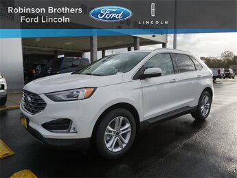 2020 White Ford Edge SEL FWD SUV EcoBoost 2.0L I4 GTDi DOHC Turbocharged VCT Engine Automatic