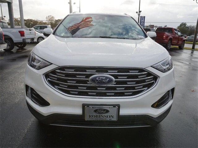 2020 White Ford Edge SEL 4 Door EcoBoost 2.0L I4 GTDi DOHC Turbocharged VCT Engine SUV Automatic FWD