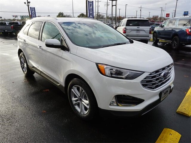 2020 White Ford Edge SEL EcoBoost 2.0L I4 GTDi DOHC Turbocharged VCT Engine FWD SUV