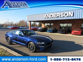 2019 Kona Blue Metallic Ford Mustang GT Premium Fastback RWD 2 Door Coupe