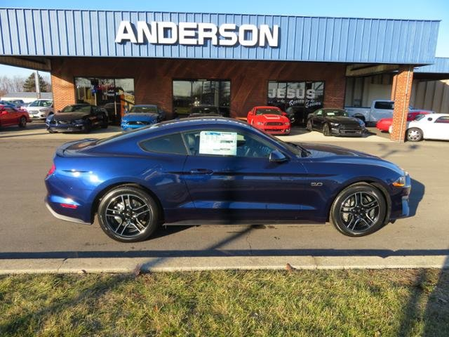 2019 Kona Blue Metallic Ford Mustang GT Premium Fastback 2 Door Coupe RWD Gas I8 5.0L Engine