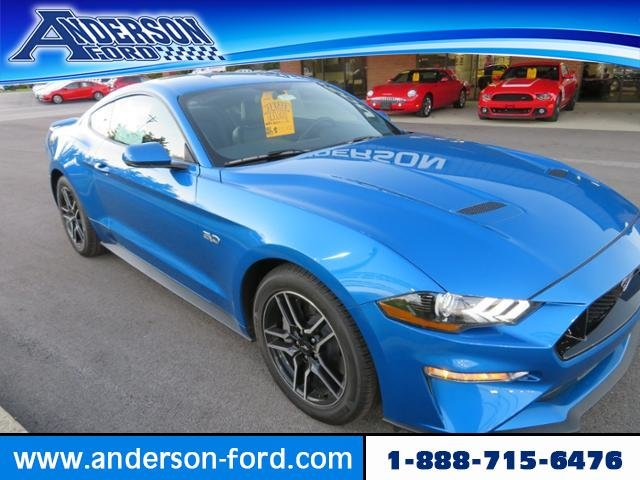 2019 Velocity Blue Metallic Ford Mustang GT Premium 2 Door Coupe Gas I8 5.0L Engine RWD