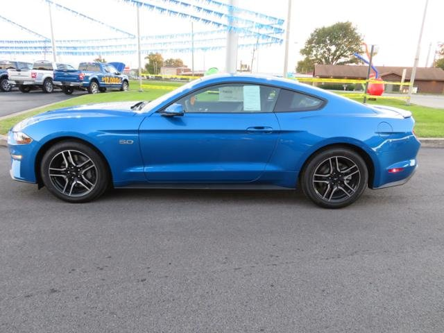 2019 Velocity Blue Metallic Ford Mustang GT Premium Gas I8 5.0L Engine RWD Coupe