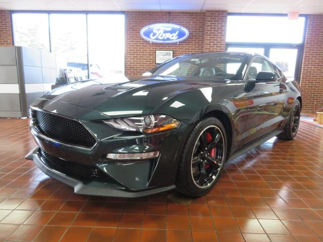 2019 Dark Highland Green Metallic Ford Mustang Bullitt Fastback Coupe Gas I8 5.0L Engine 2 Door