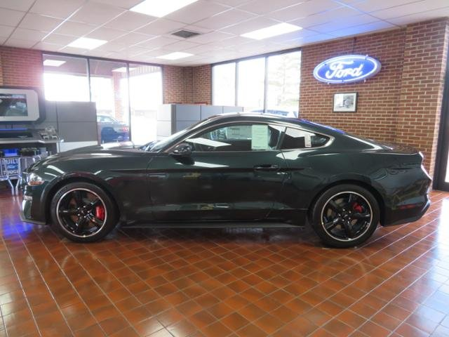 2019 Dark Highland Green Metallic Ford Mustang Bullitt Fastback Gas I8 5.0L Engine 2 Door Manual Coupe