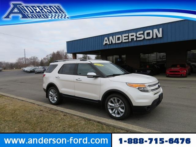 2014 White Platinum Metallic Tri-Coat Ford Explorer 4WD 4dr Limited Automatic AWD Gas V6 3.5L Engine 4 Door