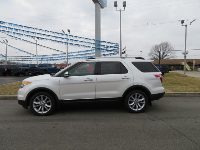 2014 White Platinum Metallic Tri-Coat Ford Explorer 4WD 4dr Limited AWD 4 Door Gas V6 3.5L Engine SUV