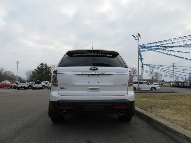 2014 White Platinum Metallic Tri-Coat Ford Explorer 4WD 4dr Limited AWD Gas V6 3.5L Engine 4 Door